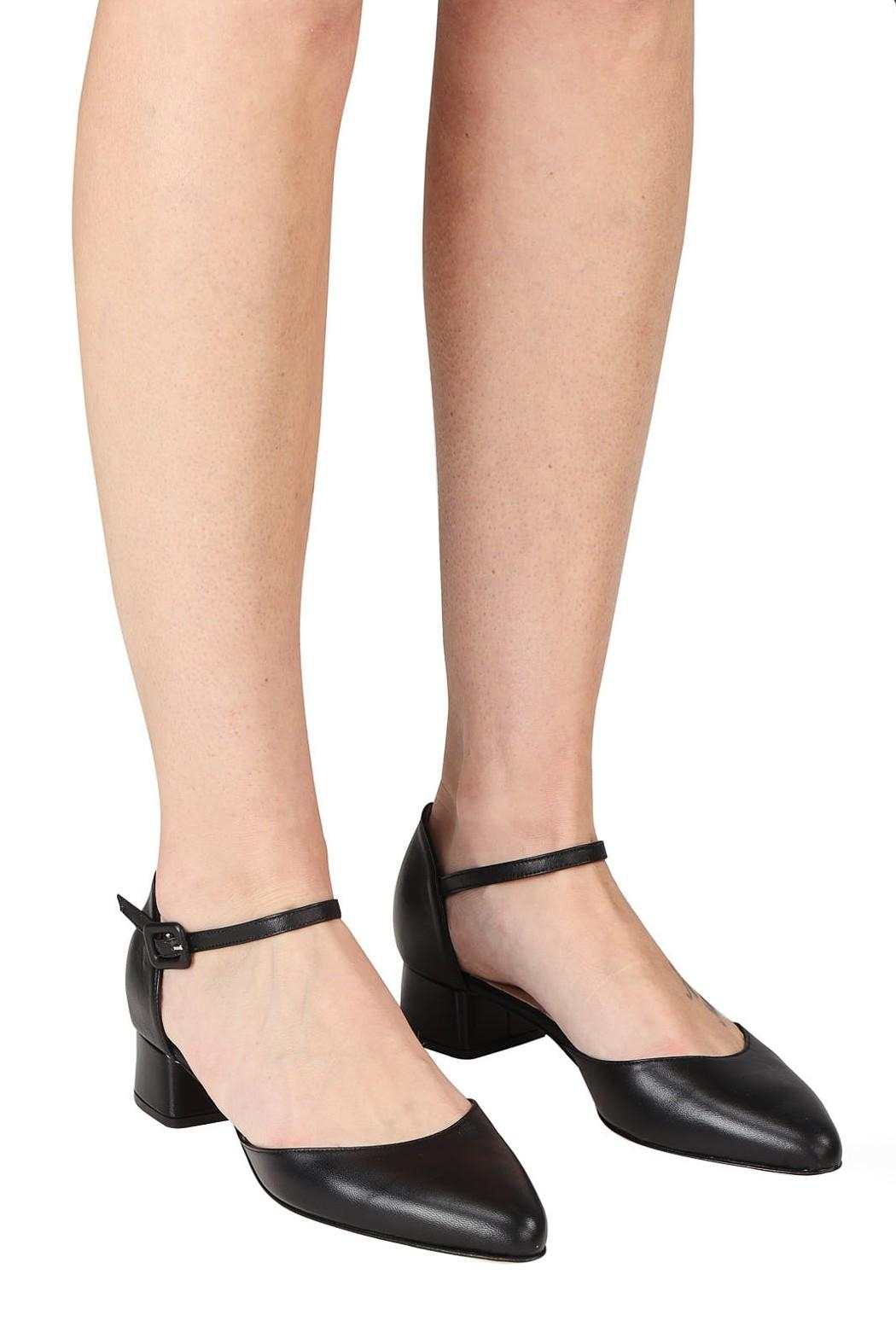 Pascucci Black Low-Heel Mary-Jane - Back Cropped Image