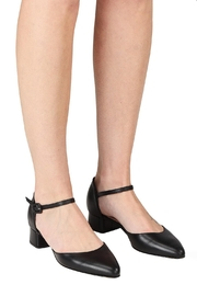 Pascucci Black Low-Heel Mary-Jane - Back cropped