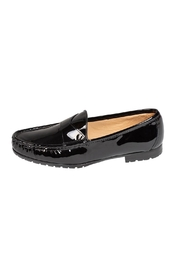 Pascucci Black Patent-Leather Loafer - Front cropped