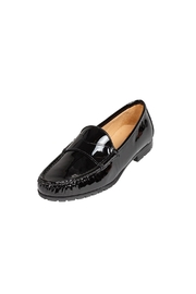 Pascucci Black Patent-Leather Loafer - Front full body