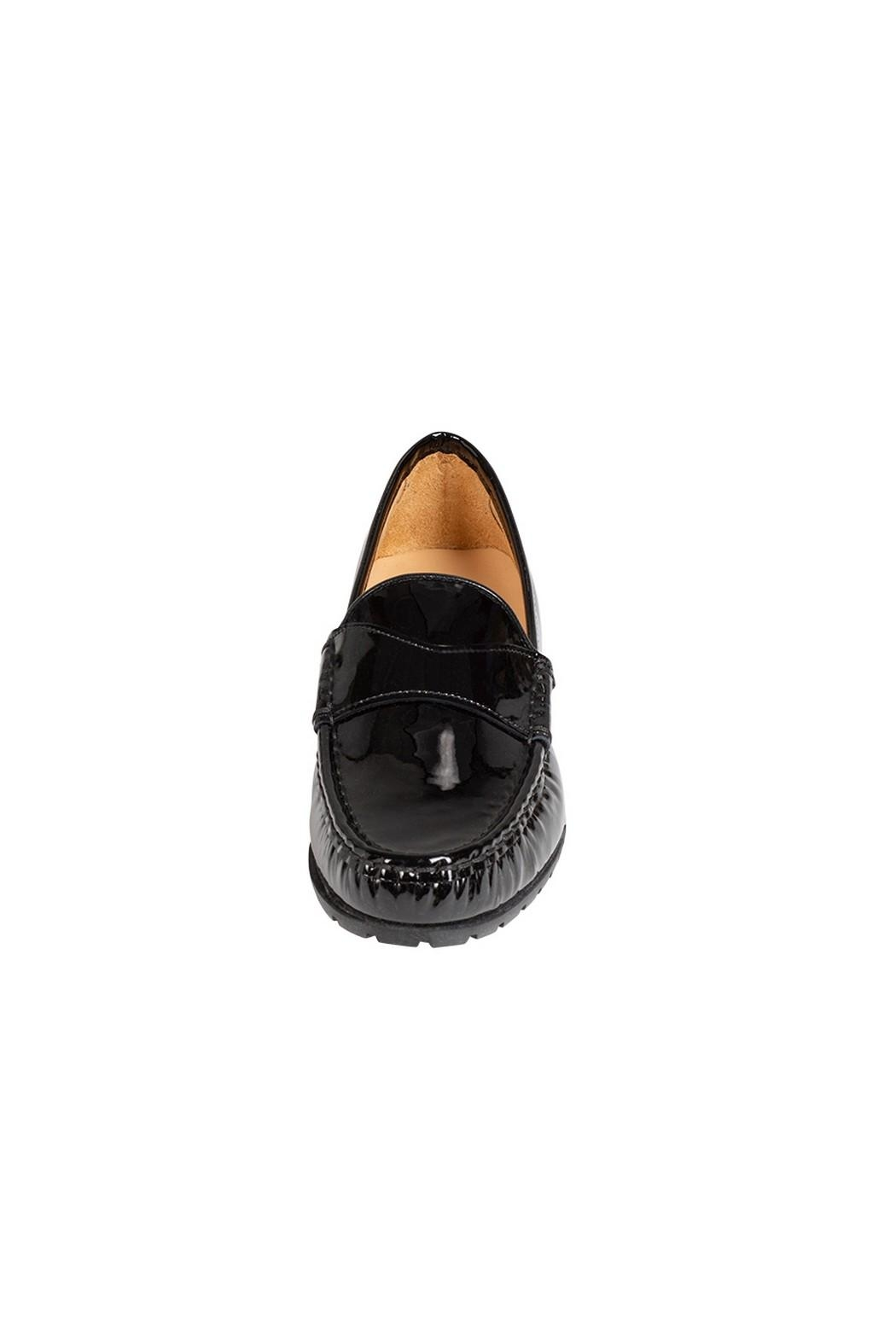 Pascucci Black Patent-Leather Loafer - Side Cropped Image