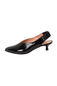Shoptiques Product: Black Patent-Leather Slingbacks