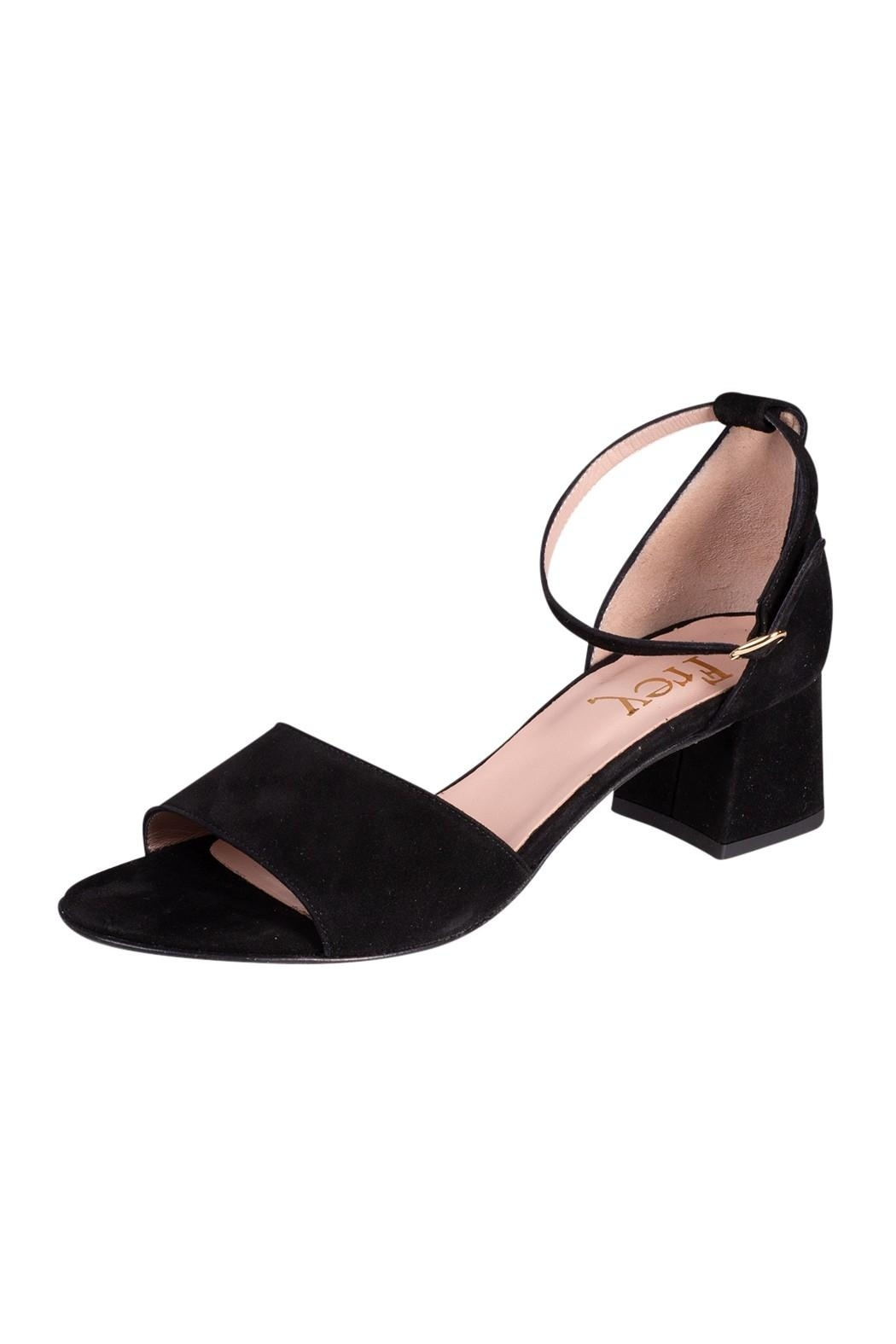 Pascucci Black Suede Heels - Front Full Image