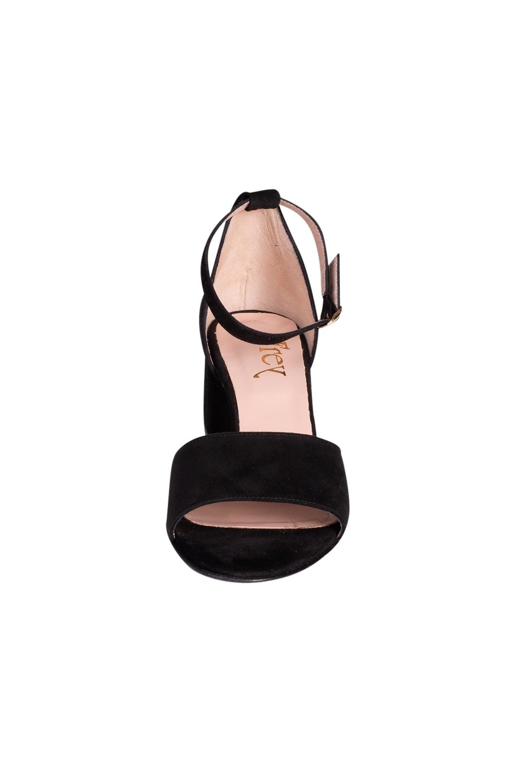 Pascucci Black Suede Heels - Side Cropped Image