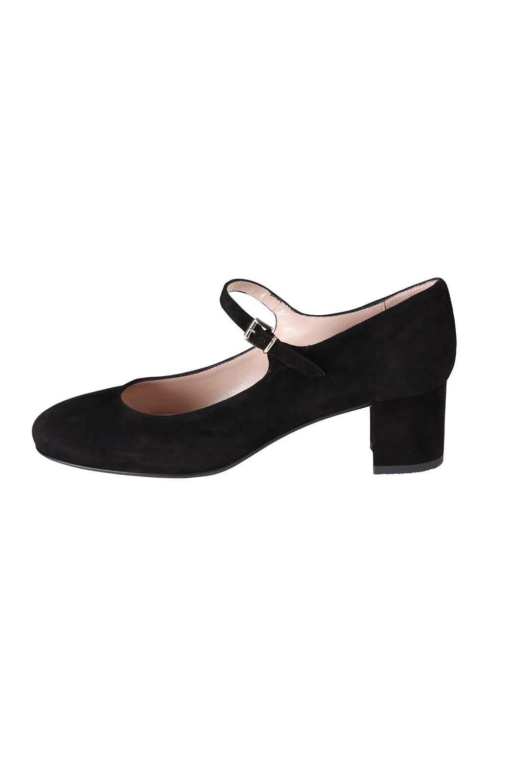Pascucci Black Suede Mary-Janes - Main Image