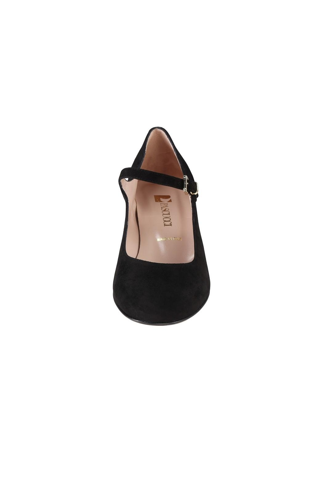 Pascucci Black Suede Mary-Janes - Side Cropped Image