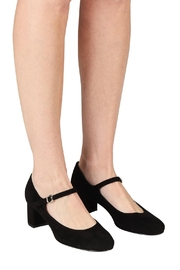 Pascucci Black Suede Mary-Janes - Back cropped