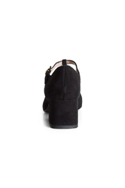 Pascucci Black Suede t-Bar - Back cropped