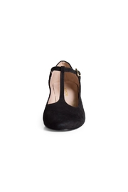 Pascucci Black Suede t-Bar - Side cropped