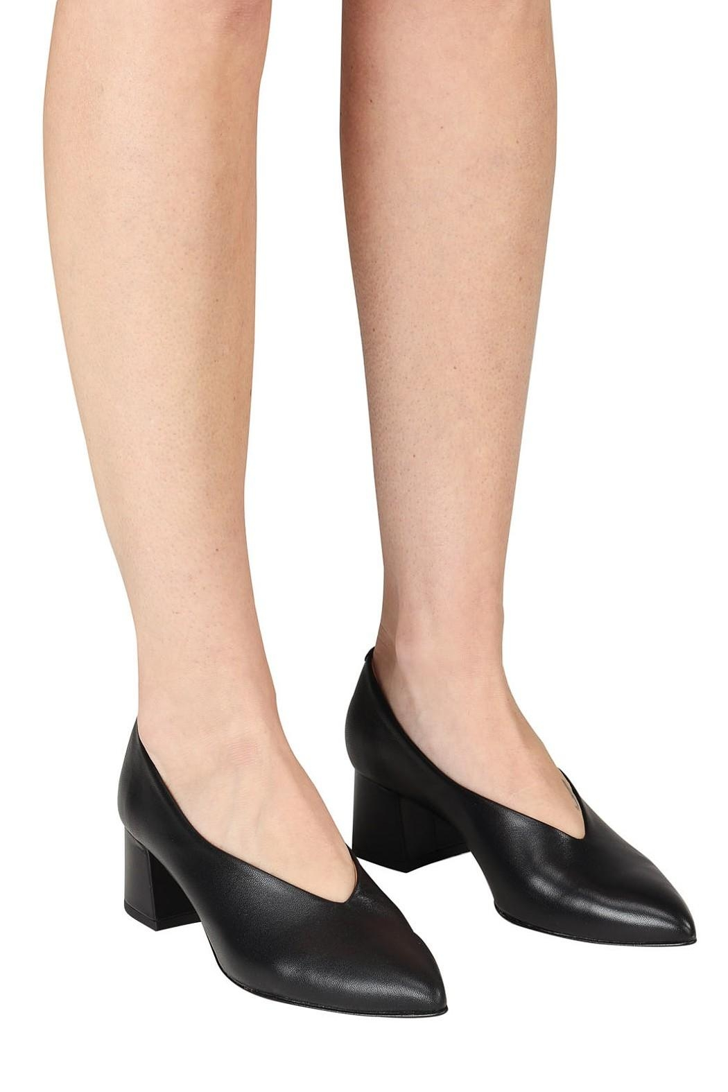 Pascucci Block Heel Pump - Back Cropped Image