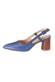 Pascucci Blue Brown Slingback - Front cropped