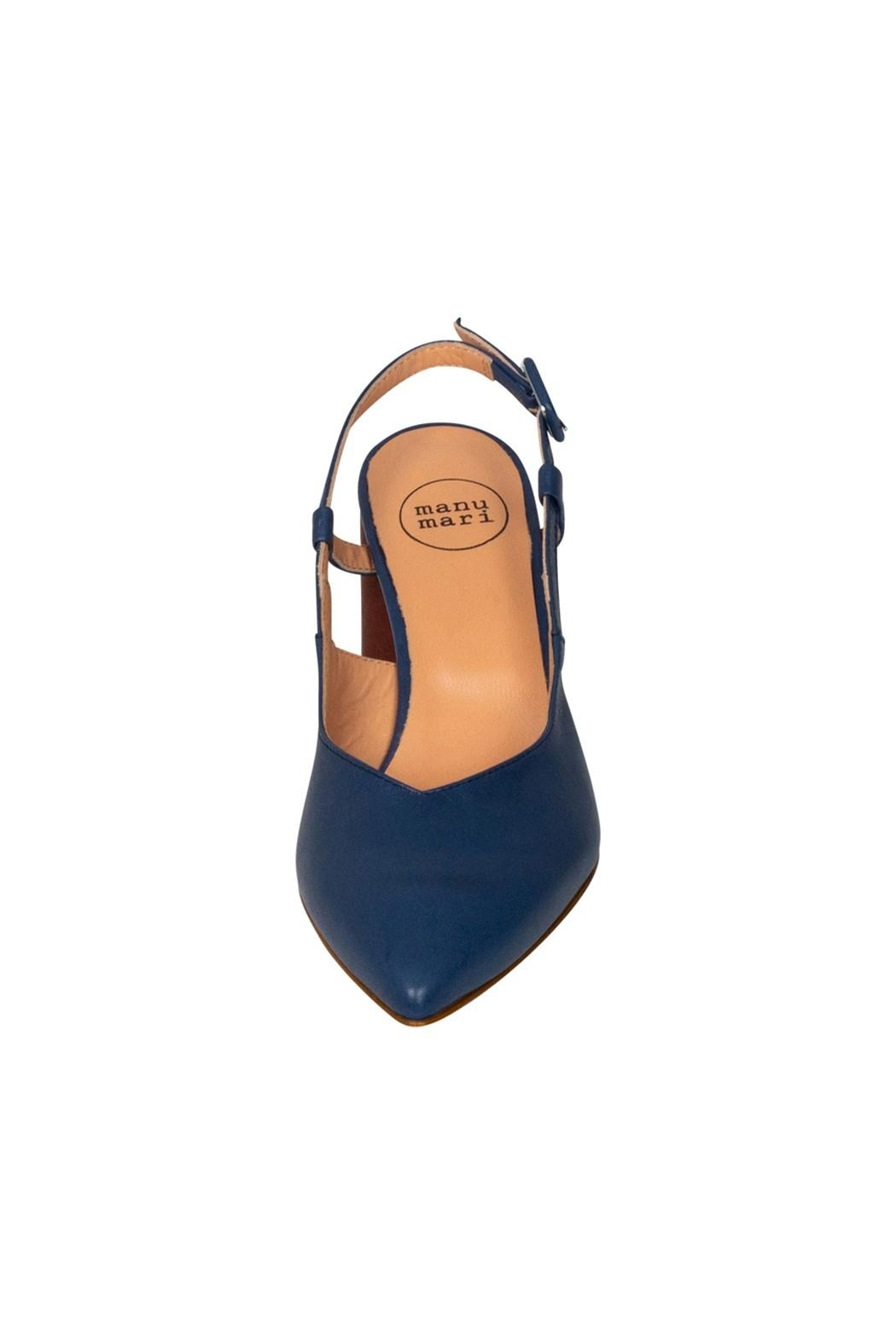 Pascucci Blue Brown Slingback - Back Cropped Image