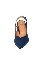Pascucci Blue Brown Slingback - Back cropped