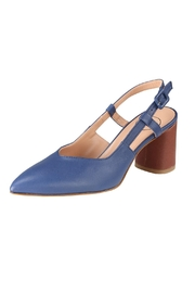 Pascucci Blue Brown Slingback - Front full body