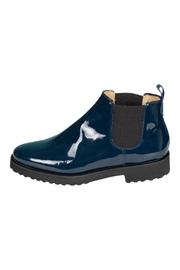 Pascucci Blue Patent-Leather Ankle-Boots - Front cropped