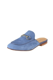 Pascucci Blue Suede Slides - Front full body