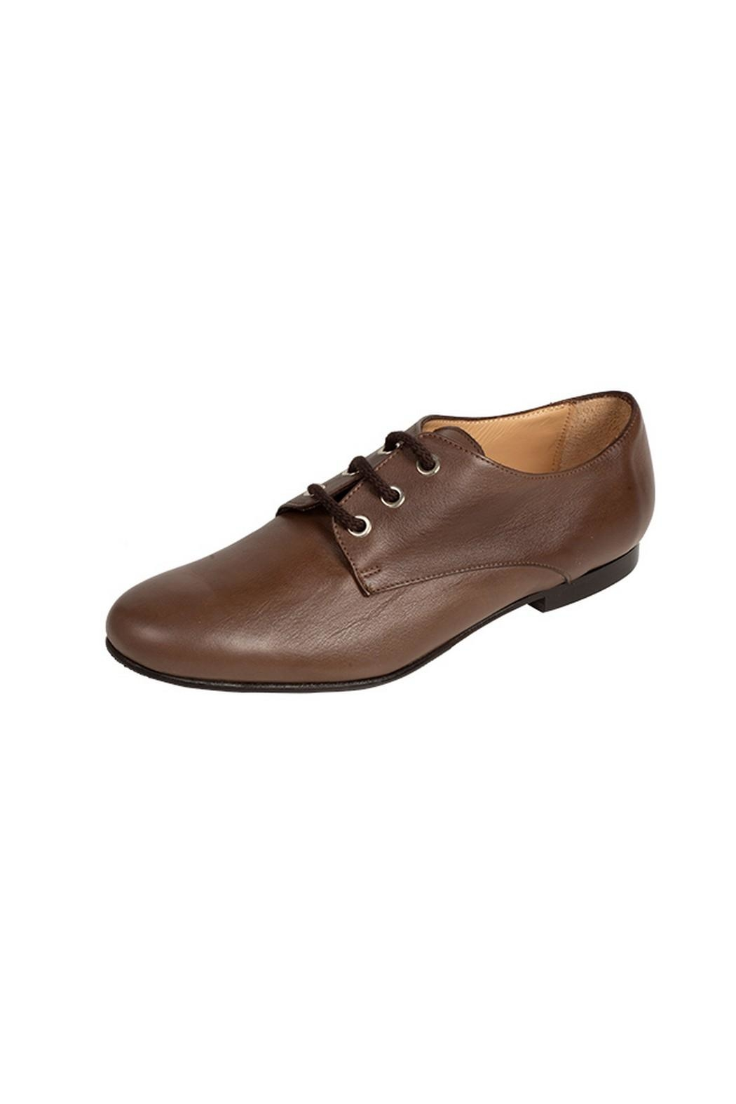 Pascucci Brown Leather Brogues - Front Full Image