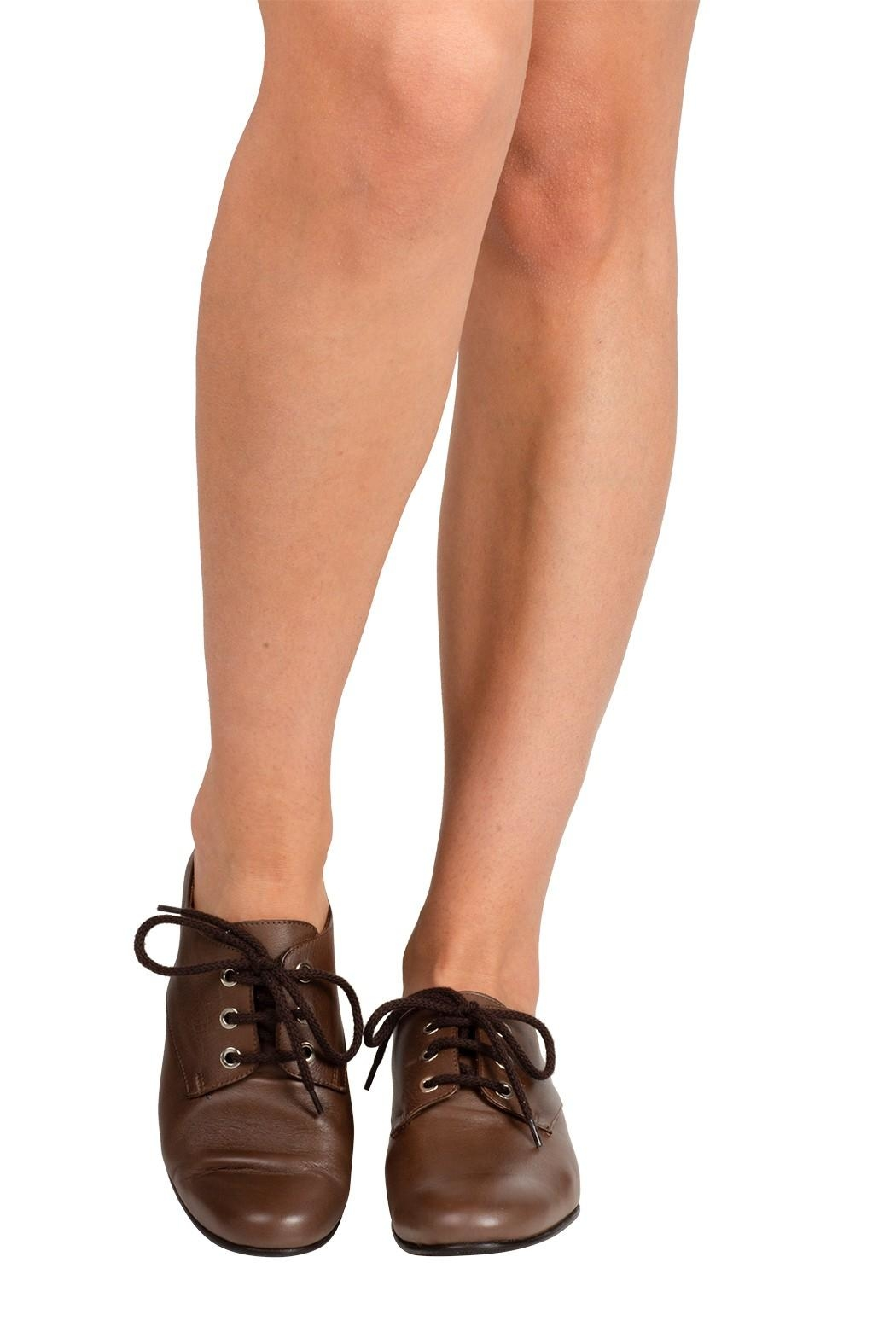 Pascucci Brown Leather Brogues - Back Cropped Image