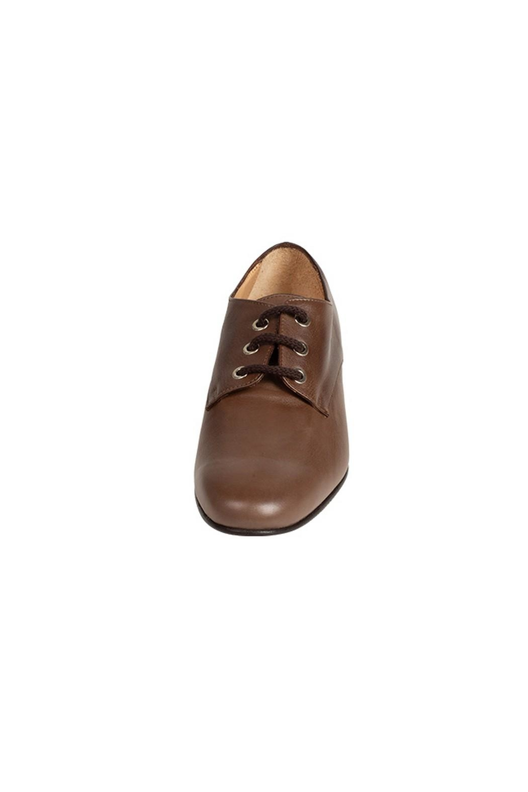 Pascucci Brown Leather Brogues - Side Cropped Image
