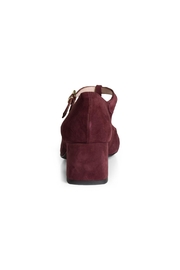 Pascucci Burgundy Suede t-Bar - Back cropped