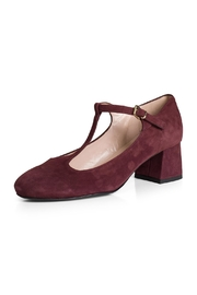 Pascucci Burgundy Suede t-Bar - Front full body