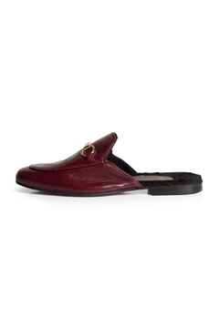 Shoptiques Product: Burgundy Wool-Lined Mule