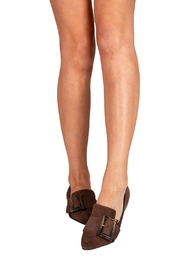 Pascucci Chocolate Suede Loafer - Back cropped