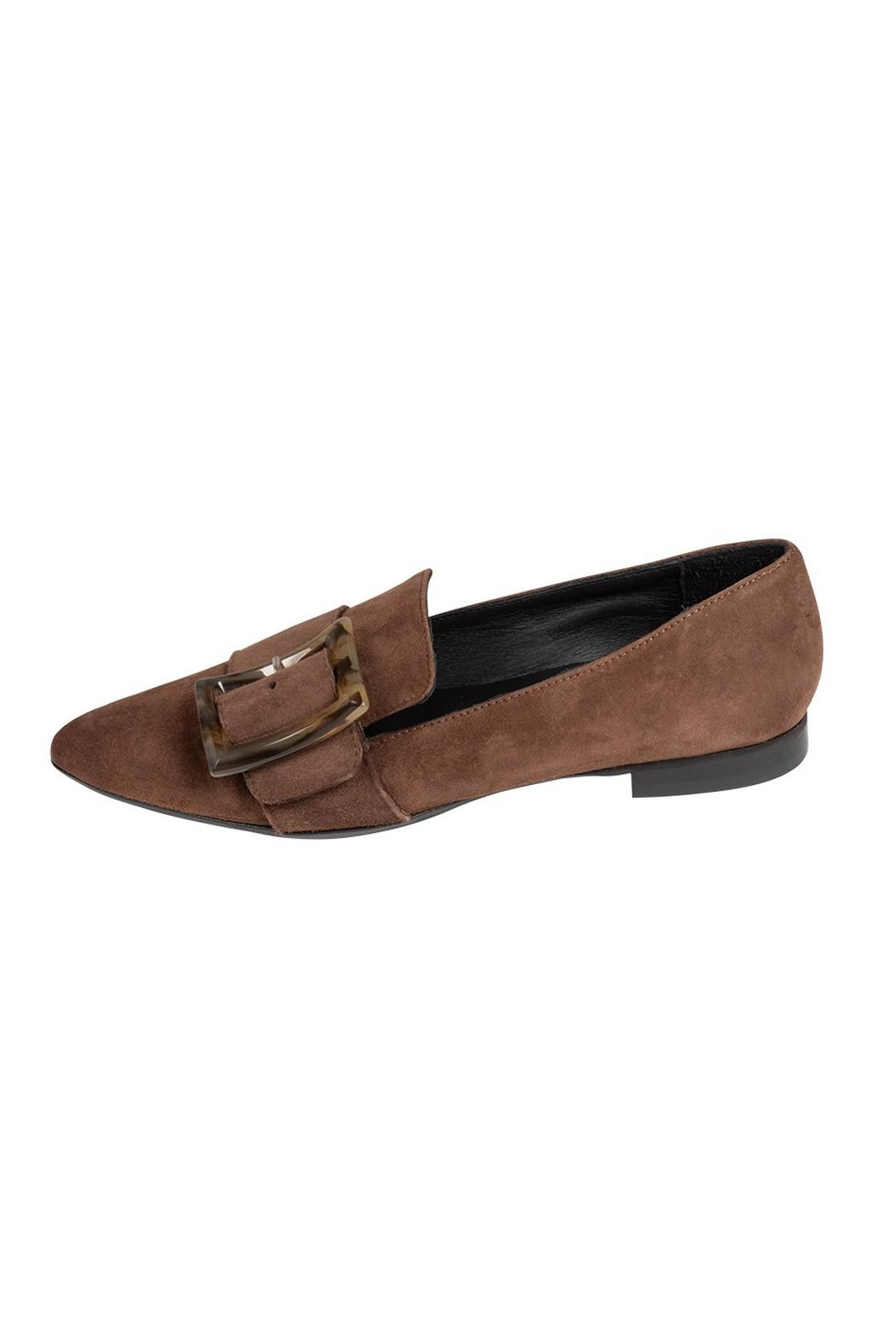 Pascucci Chocolate Suede Loafer - Main Image