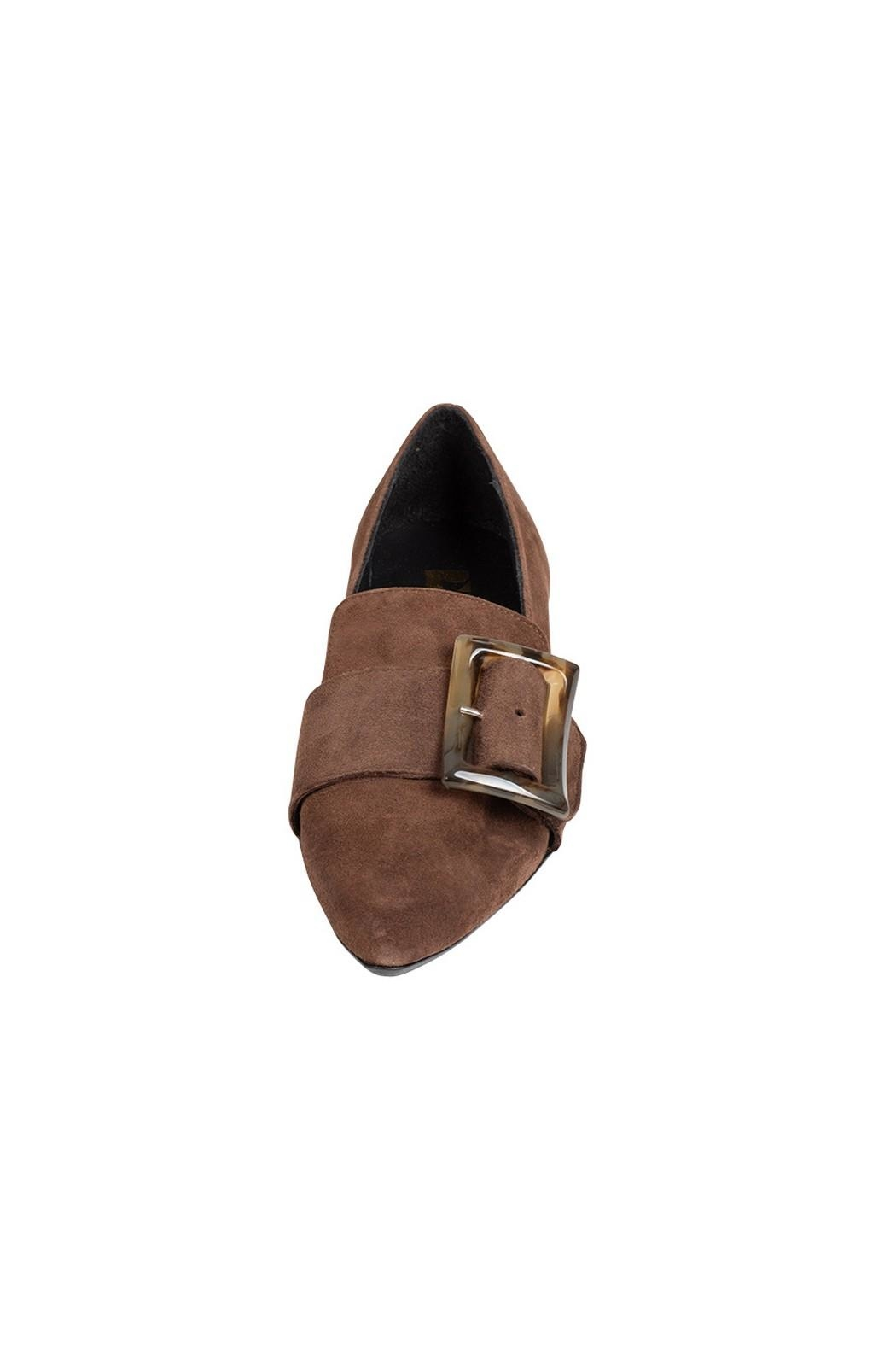 Pascucci Chocolate Suede Loafer - Side Cropped Image