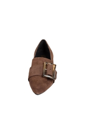 Pascucci Chocolate Suede Loafer - Side cropped