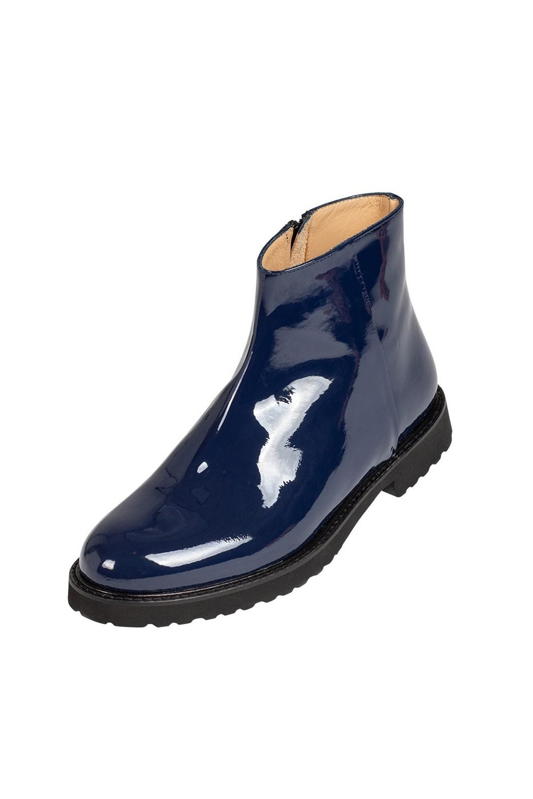 Pascucci Cobalt-Blue Patent-Leather Ankle-Boots - Main Image