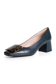 Pascucci Contrast-Blue Court Shoe - Front full body