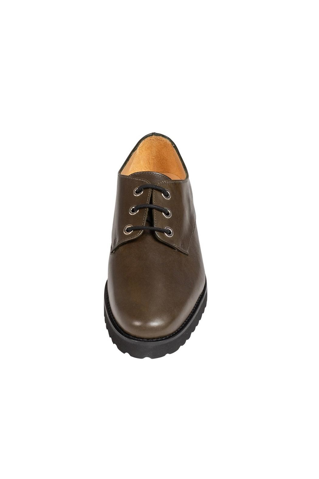 Pascucci Deep-Green, Leather, Brogue - Side Cropped Image