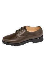 Pascucci Deep-Green, Leather, Brogue - Front cropped