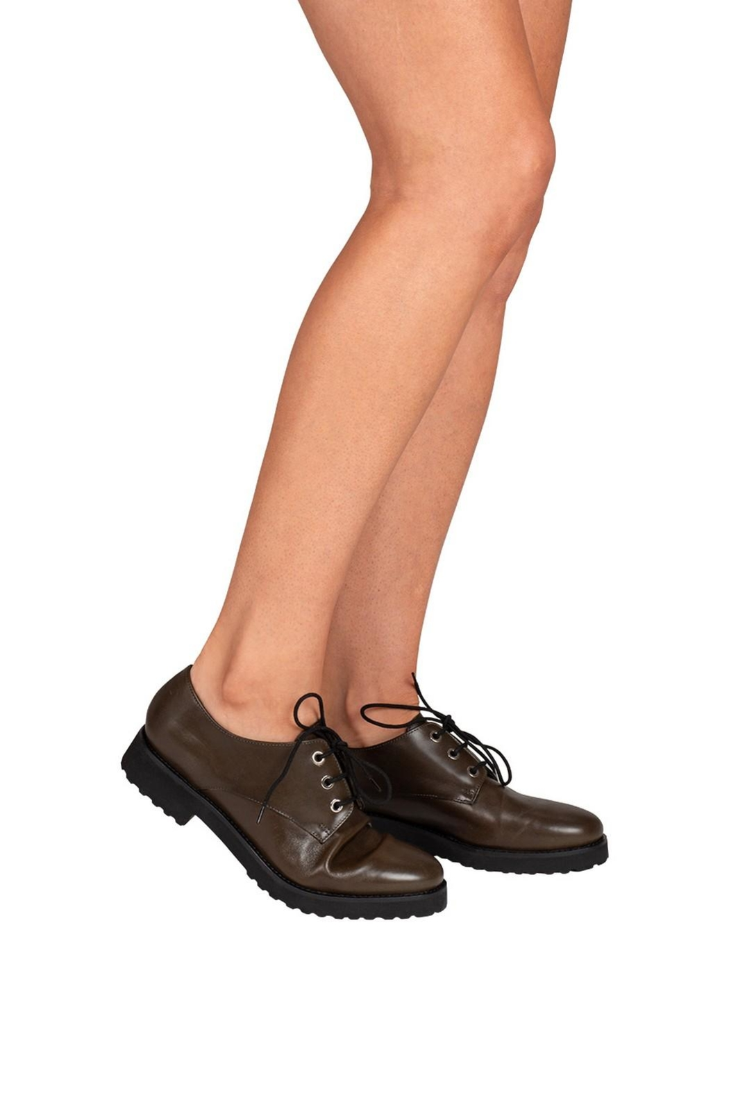 Pascucci Deep-Green, Leather, Brogue - Back Cropped Image