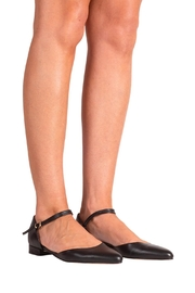 Pascucci Flat Black Mary-Jane - Back cropped