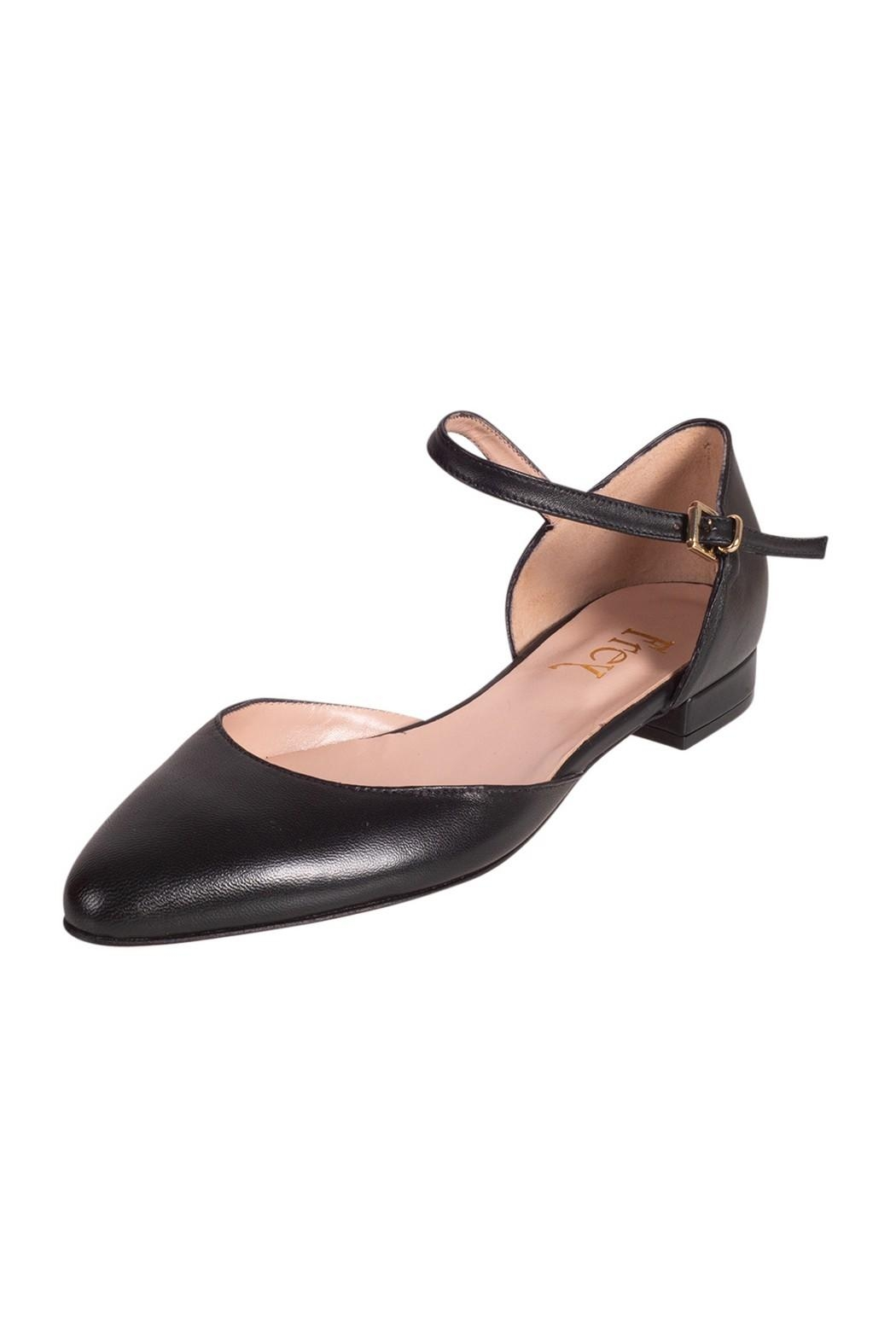 Pascucci Flat Black Mary-Jane - Front Full Image