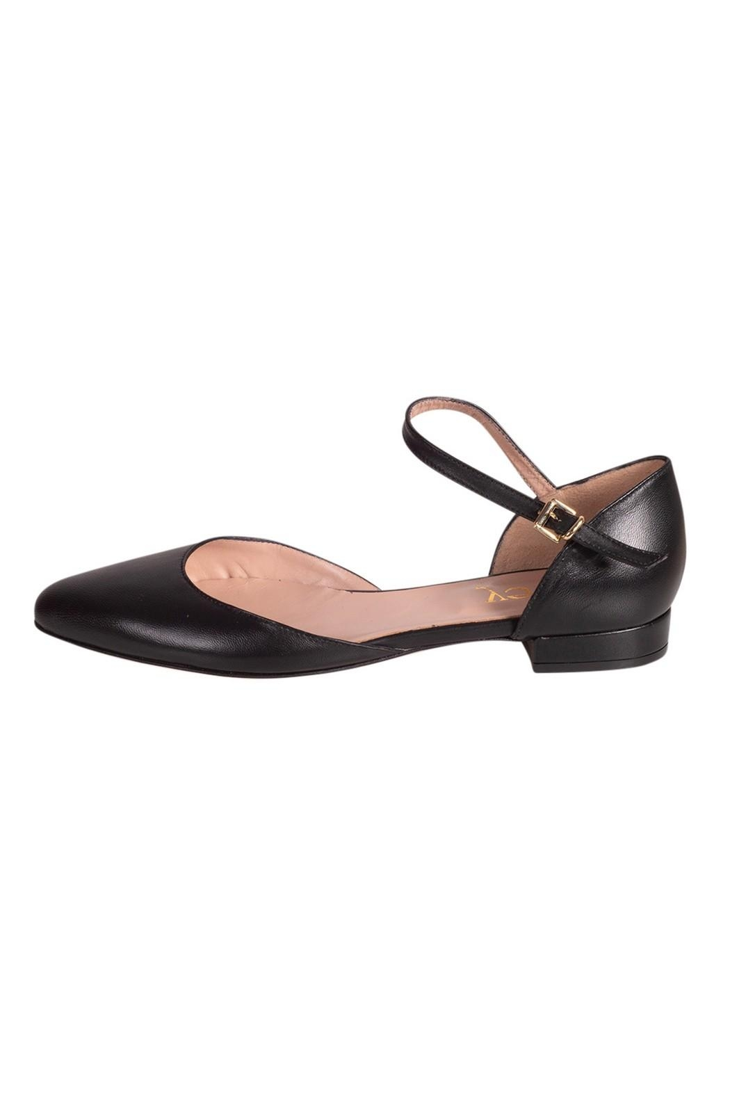 Pascucci Flat Black Mary-Jane - Front Cropped Image
