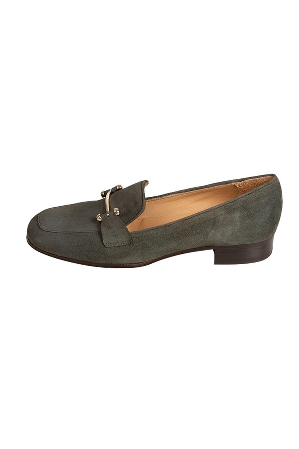 Pascucci Forest-Green Suede Loafers - Main Image
