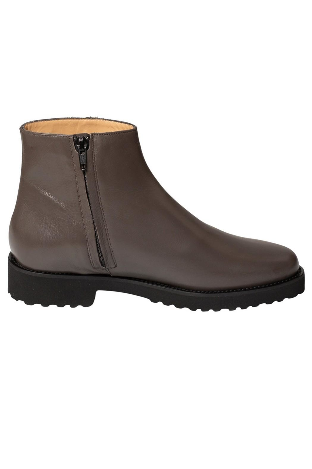 Pascucci Grey Leather Ankle-Boots - Back Cropped Image