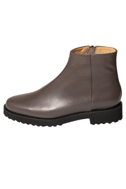 Pascucci Grey Leather Ankle-Boots - Front cropped