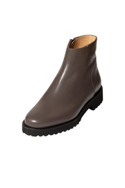 Pascucci Grey Leather Ankle-Boots - Front full body