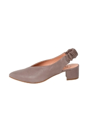 Manu Mari Grey Leather Slingbacks - Product Mini Image