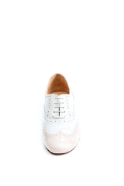 Pascucci Handmade White Italian Brogue - Front full body