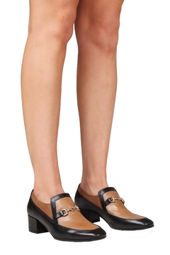 Pascucci Heeled Two-Tone Loafer - Alternate List Image