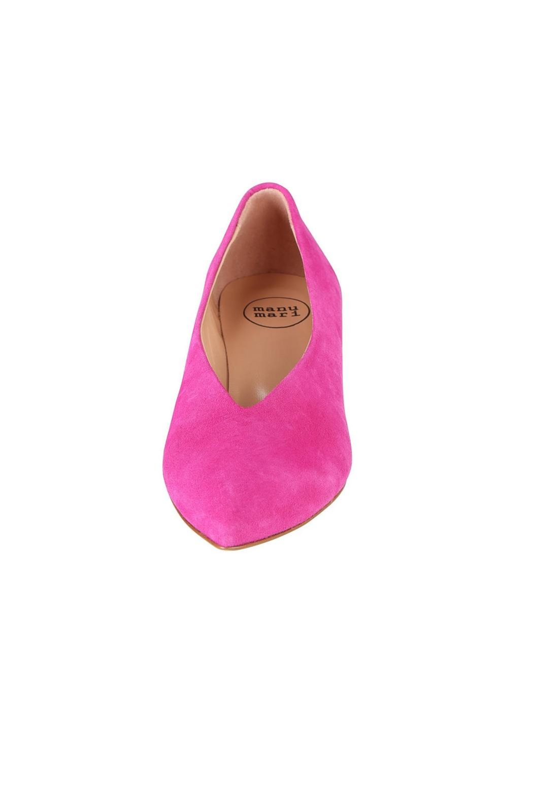 Pascucci Hot-Pink Suede Pumps - Side Cropped Image