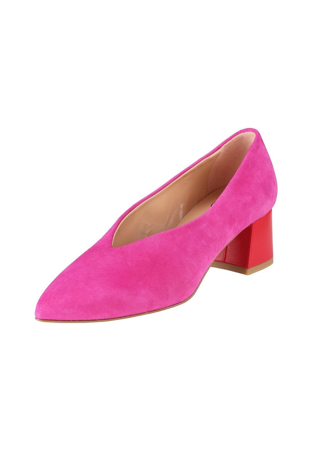 Pascucci Hot-Pink Suede Pumps - Front Full Image