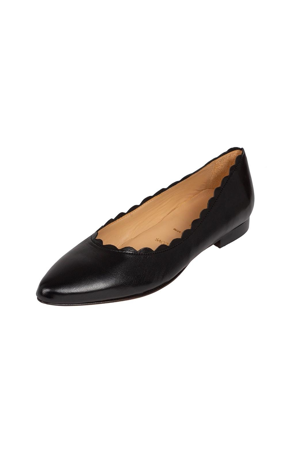Pascucci Leather, Black, Ballet-Flats - Front Full Image