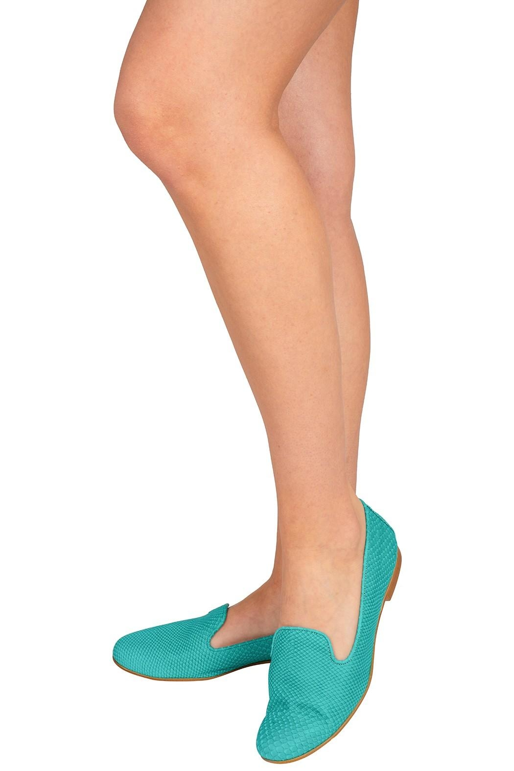 Pascucci Leather Bright Slippers - Back Cropped Image