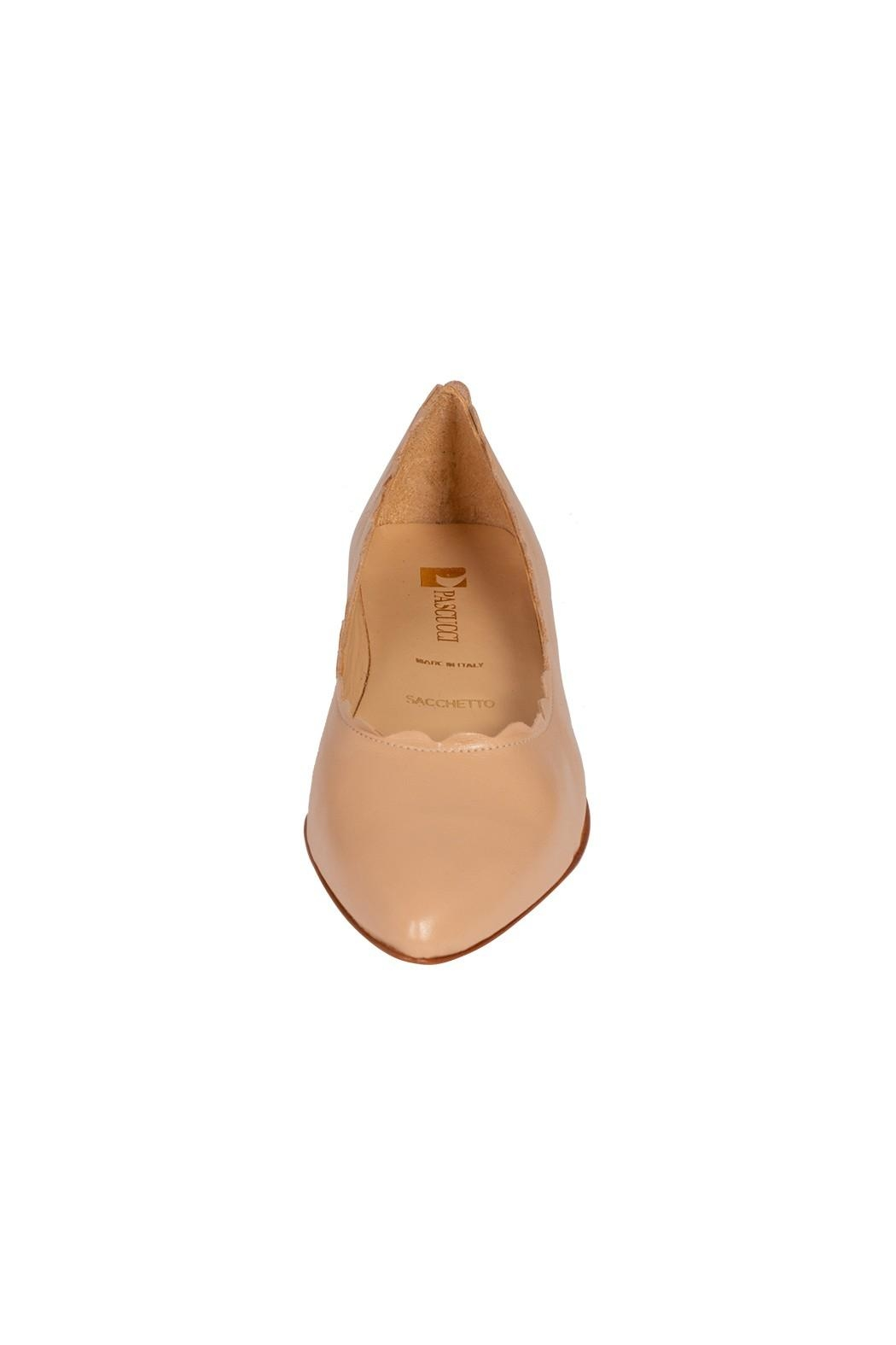 Pascucci Leather Nude Ballet-Flats - Side Cropped Image